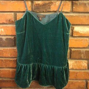 J.Crew Green Velvet Shirt